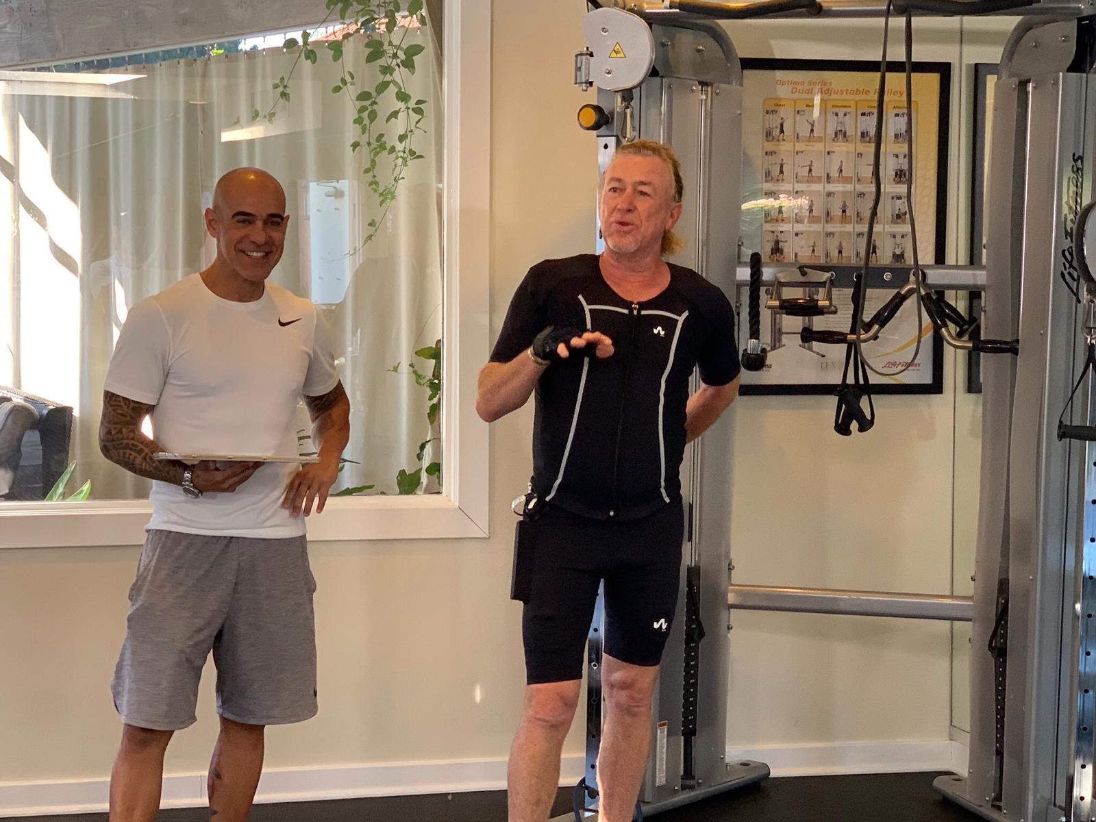 Miguel Ángel Jiménez muestra en Golf Channel sus rutinas de entrenamiento con Wiemspro